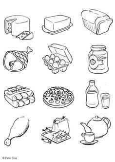 Kleurplaat Gezonde En Ongezonde Voeding Google Zoeken