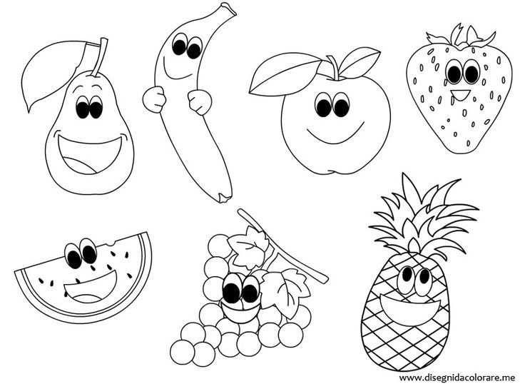 Afbeeldingsresultaat Voor Kleurplaat Fruit Met Afbeeldingen