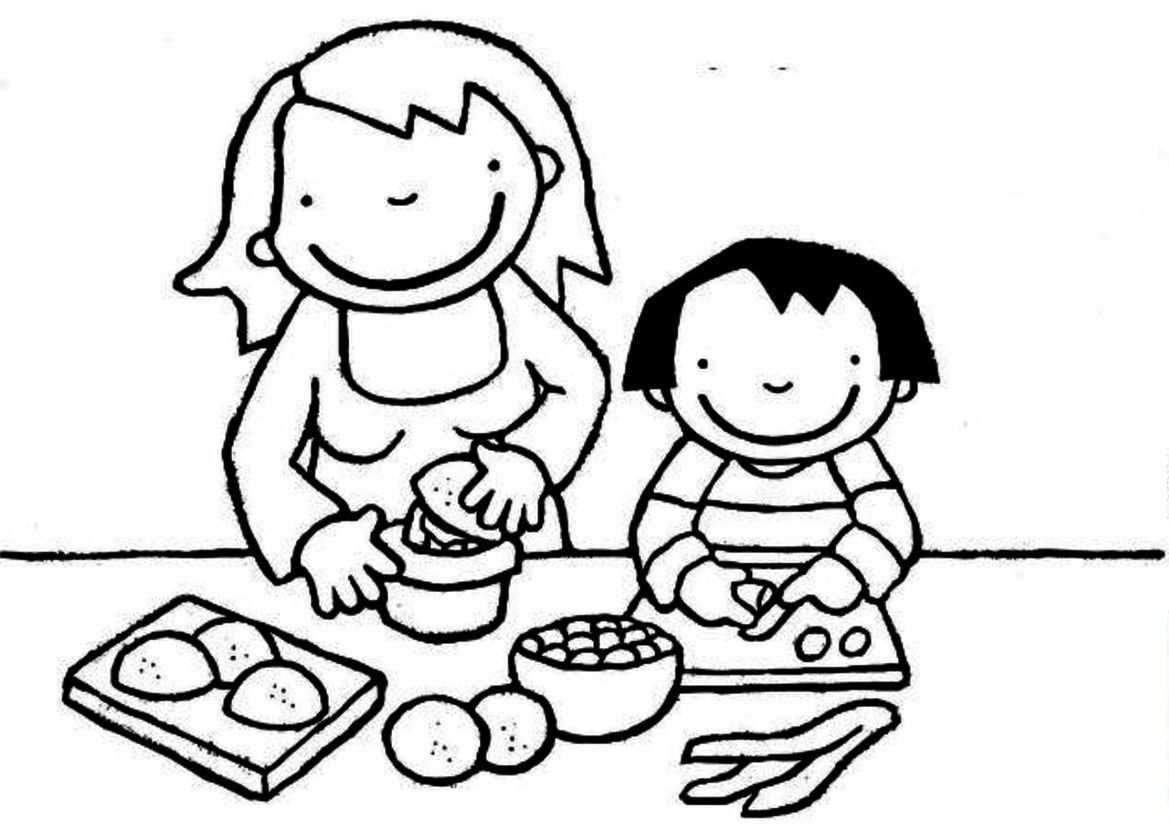 Kleurplaat Kok Met Afbeeldingen Knutselen Eten En Drinken