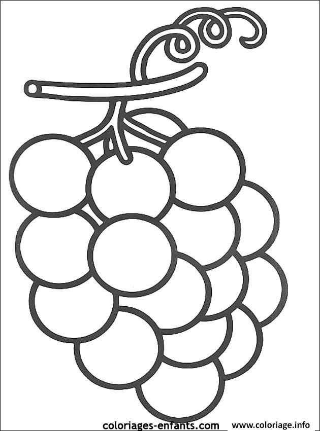 Coloriage Fruit Raisins A Imprimer Met Afbeeldingen Knutselen