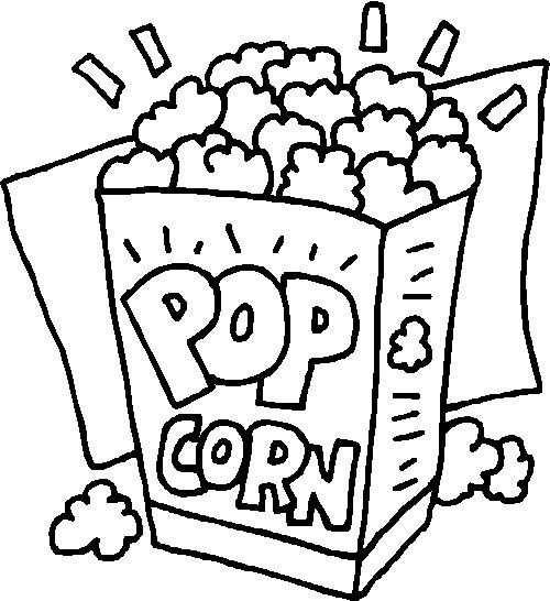 Popcorn Con Imagenes Dibujos De Palomas Paginas Para Colorear