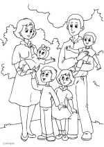 Kleurplaat Familie Family Drawing Coloring Pages Ramadan Crafts