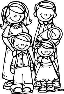 Kleurplaat Vader Moeder Twee Kinderen En Een Baby Com Imagens