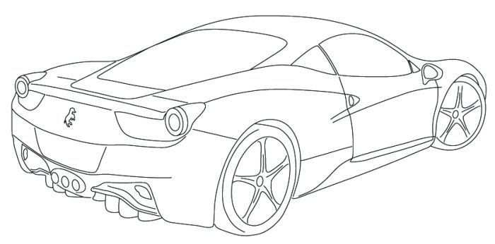 Ferrari 458 Coloring Page With Images Cars Coloring Pages