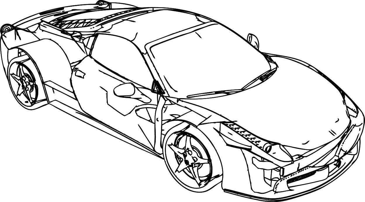Nice Ferrari 458 Damage Coloring Page With Images Coloring