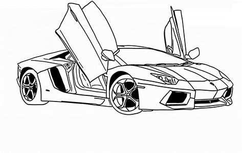 Ausmalbilder Autos Lamborghini 02 Malvorlage Auto Cars