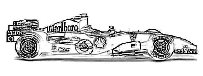 Ferrari 248 F1 Coloring Page With Images Ferrari Coloring