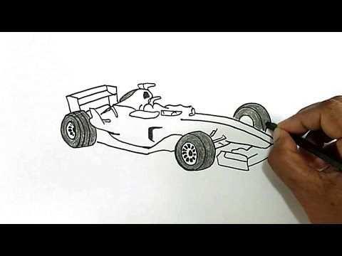 How To Draw A Formula 1 Car Met Afbeeldingen Tekenen Formule 1