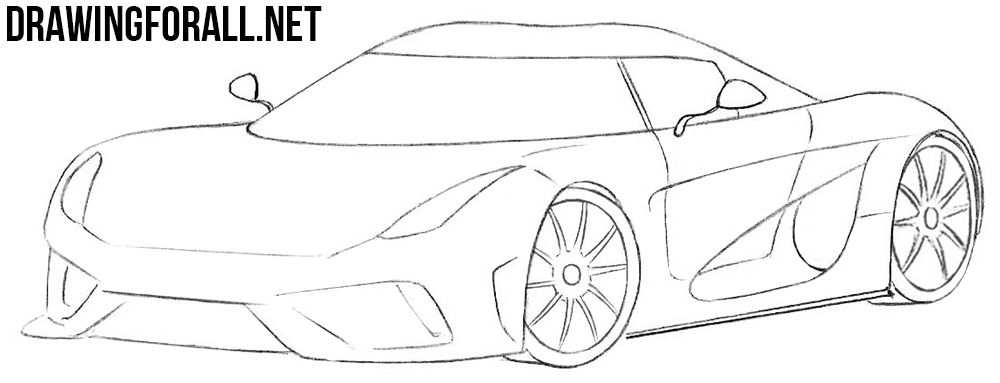 How To Draw A Koenigsegg Regera Koenigsegg Car Drawings Drawings