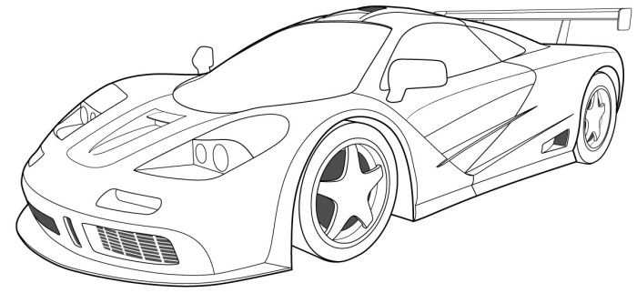 Bugatti Veyron 03 Coloring Page Race Car Coloring Pages Sports