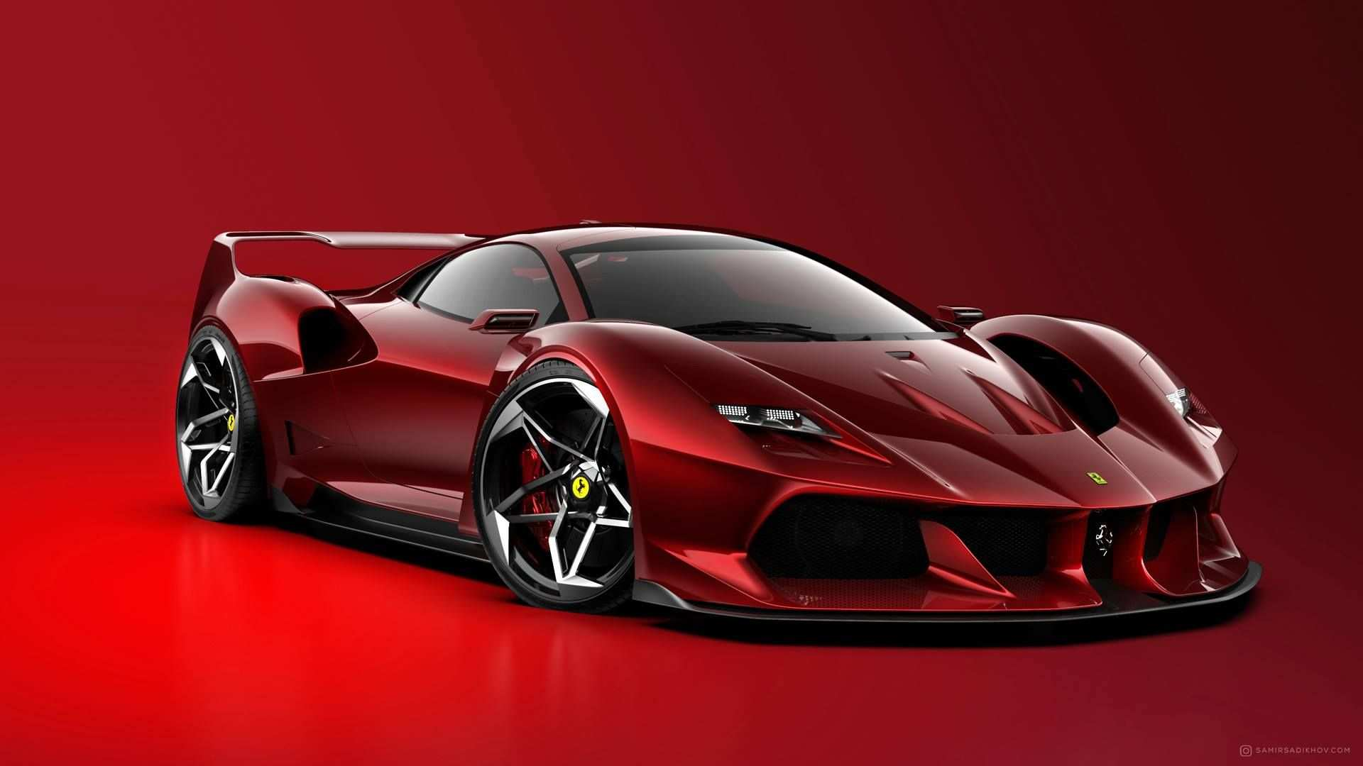 Ferrari F40 Tribute Render Ferrari F40 Super Cars Ferrari