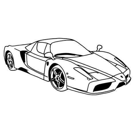Leuk Voor Kids Kleurplaat Ferrari Enzo Kleurplaten Ferrari Auto