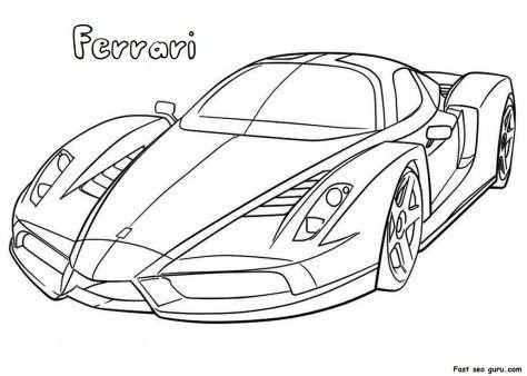 Ferrari Met Afbeeldingen Kleurplaten Lijntekeningen Ferrari