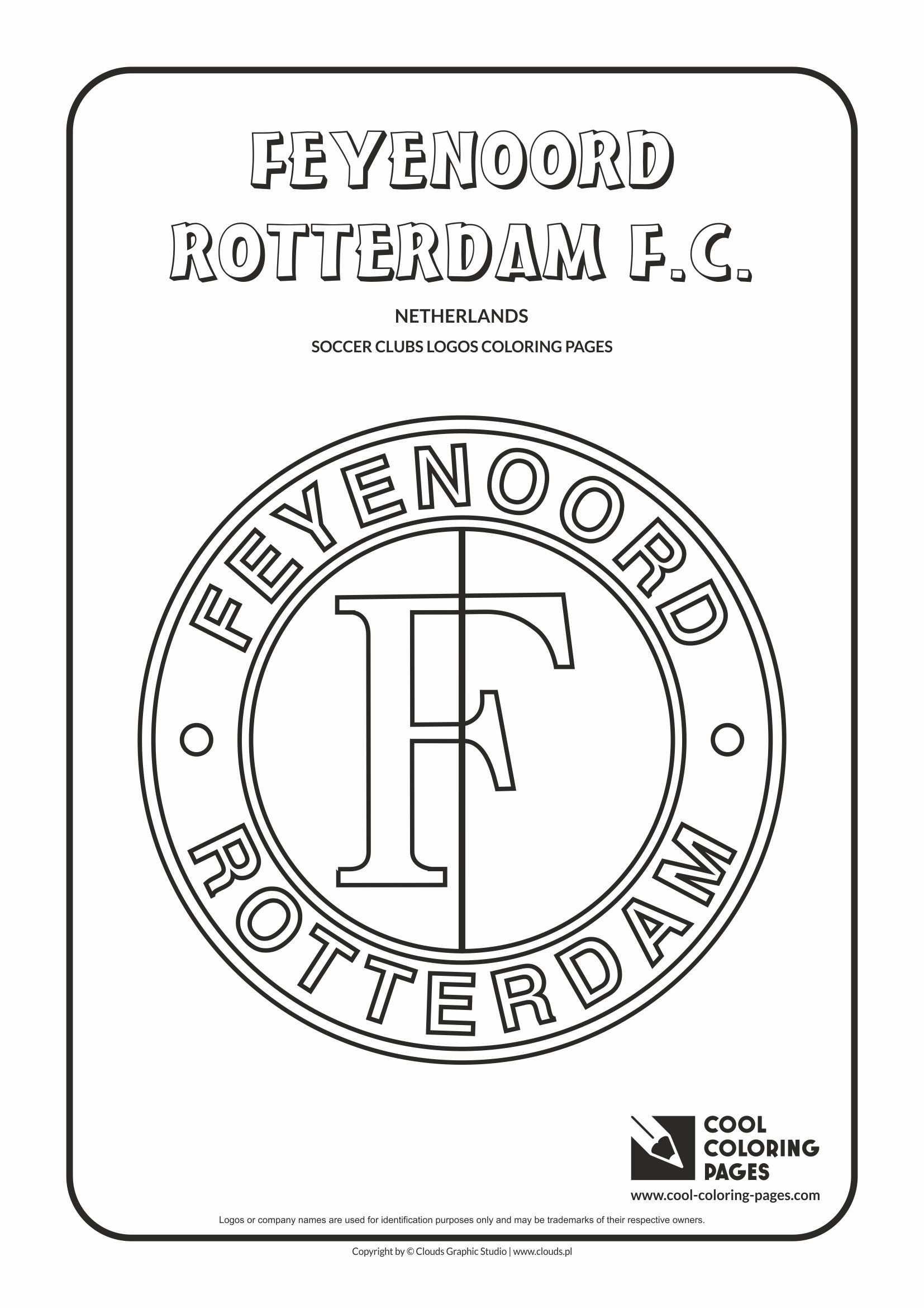 Feyenoord Rotterdam Logo Coloring Page Kleurplaten Patronen