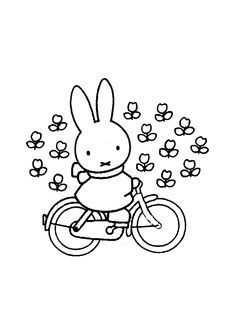 kleurplaat fiets nijntje