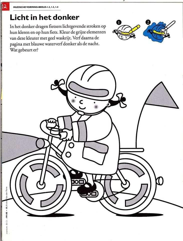 Kleurplaat Fluo Knutselen Thema Verkeer Vervoer Thema Thema