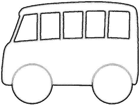 Ruimtelijke Knutsel Vervoer Bus Mal Van Een Bus Met