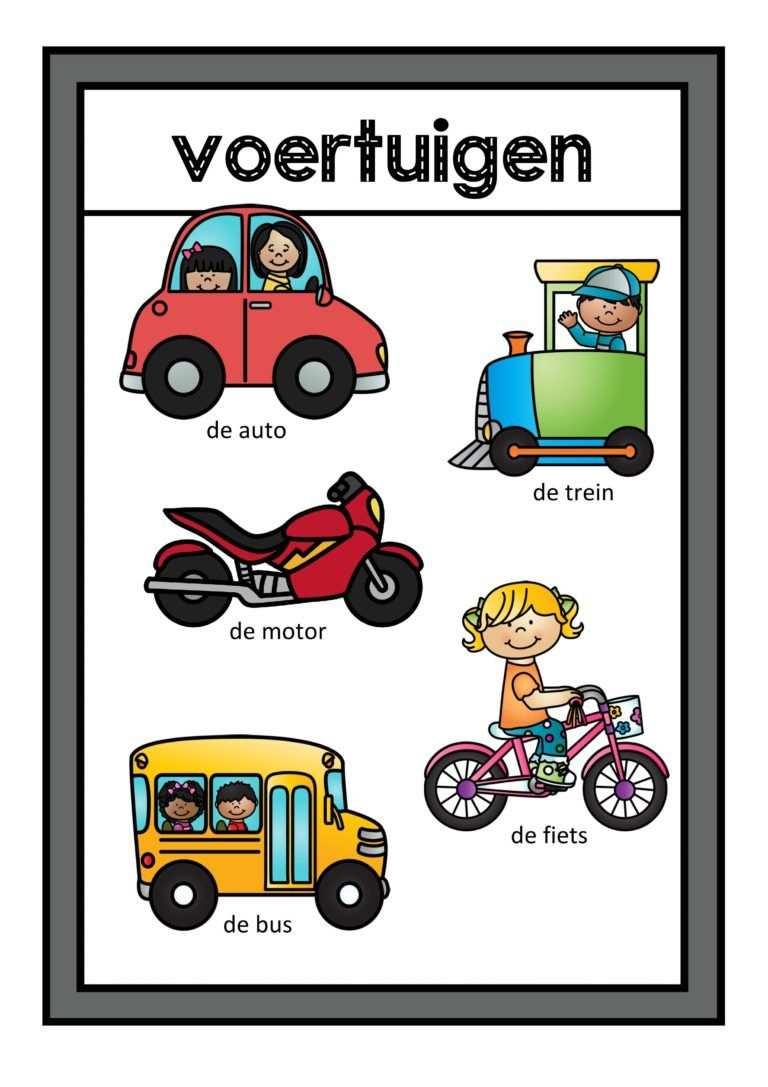 Thema Vervoer Spellen Voor Kleuters Met Afbeeldingen Vervoer