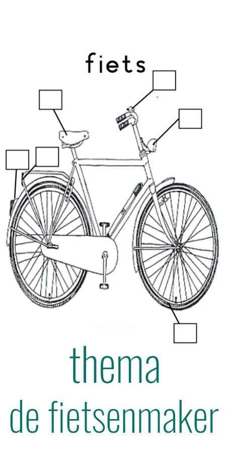 De Fietsenmaker Fiets Vervoer En Vervoer Knutselen