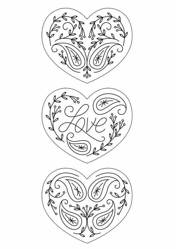 Kleurplaat Hart Valentijn Moederdag Vaderdag Valentijnen