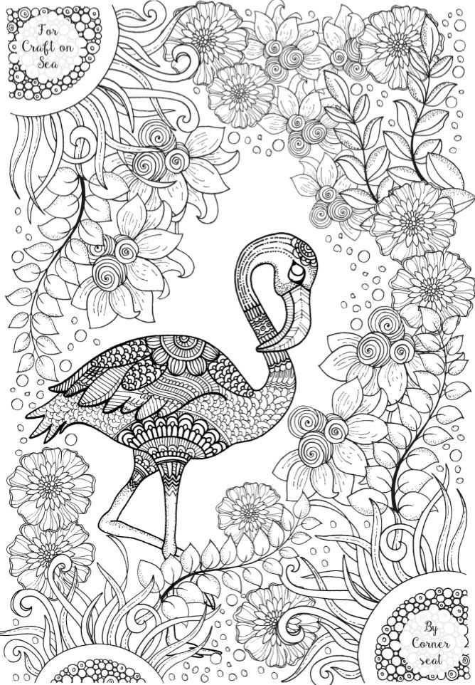 Flamingo Colouring Page Flamingo Coloring Page Animal Coloring
