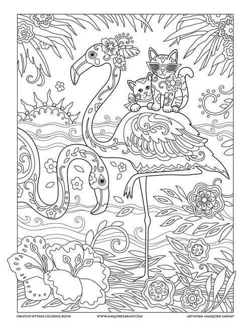 Flamingos Kleurplaten Kleurboek Flamingo Knutselen