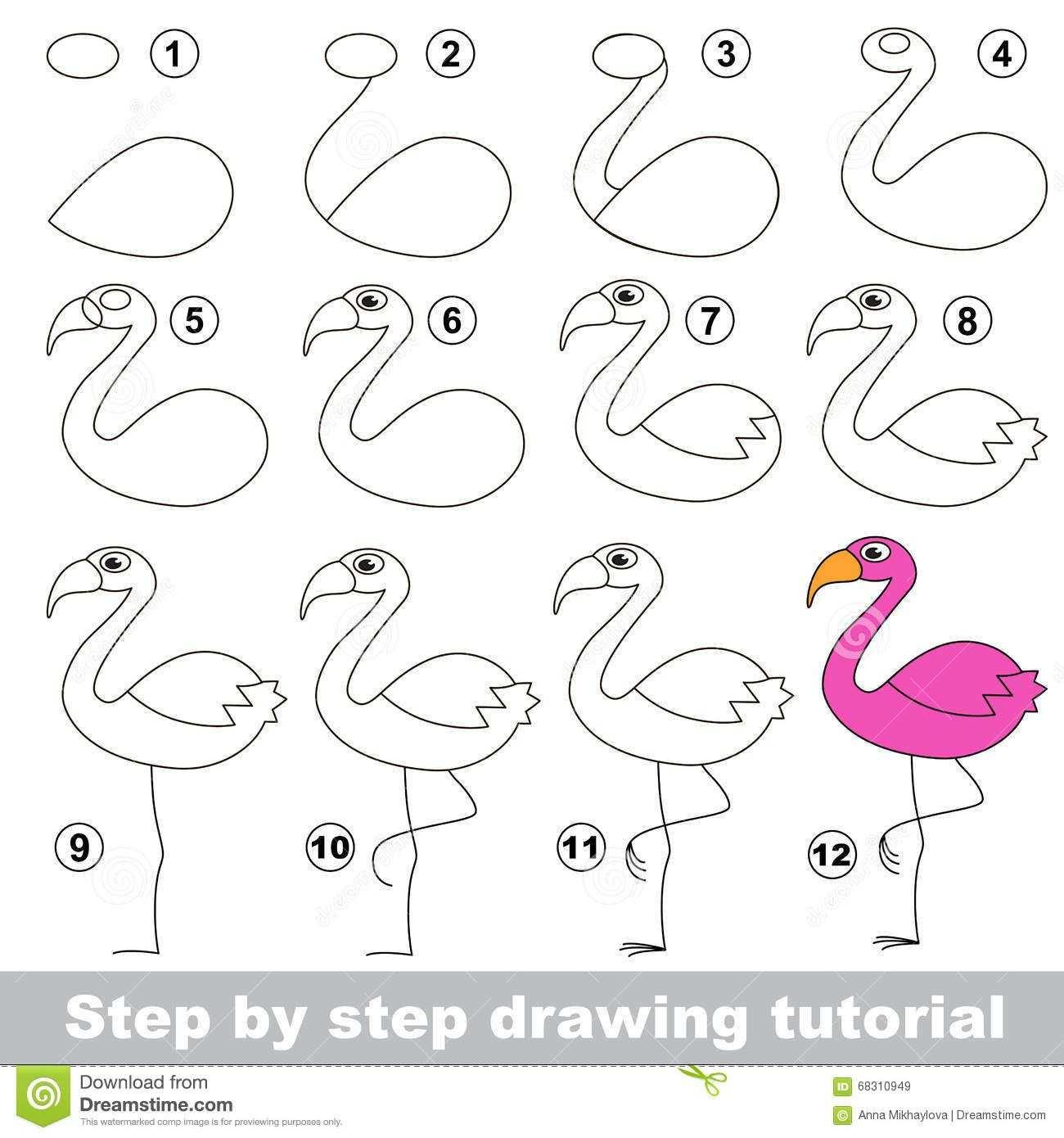 Image Result For How To Draw A Flamingo Met Afbeeldingen
