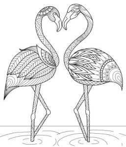 Craft Haven Flamingo Free Coloring Page Met Afbeeldingen