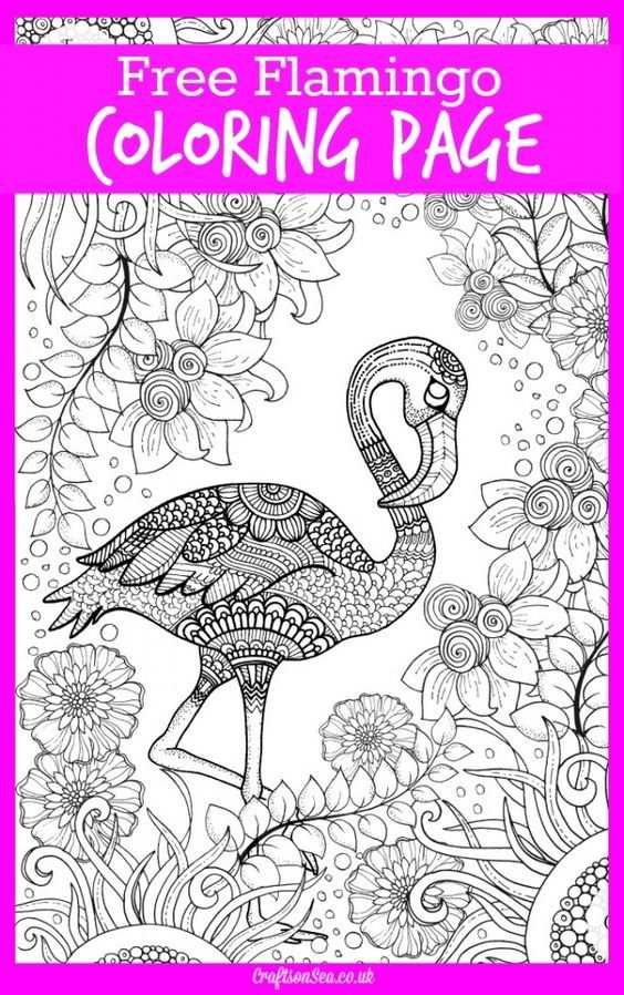 Free Flamingo Colouring Page For Adults Kleurplaten