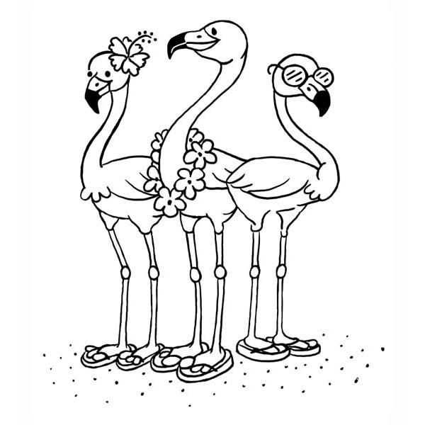 Pin Op Flamingo Party