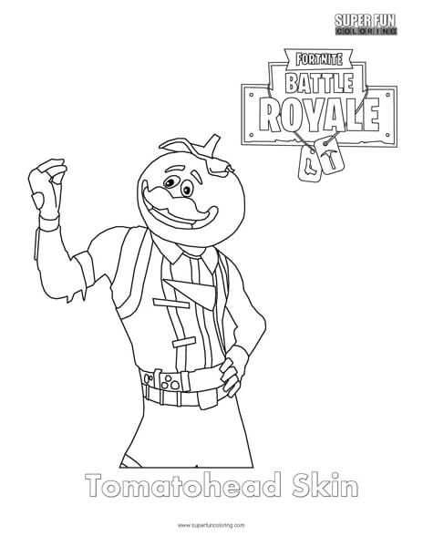 Tomatohead Skin Fortnite Coloring Page Holiday Coloring Book