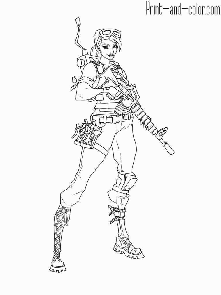 Fortnite Character 7 Coloring Pages Pictures Mickey Mouse Coloring