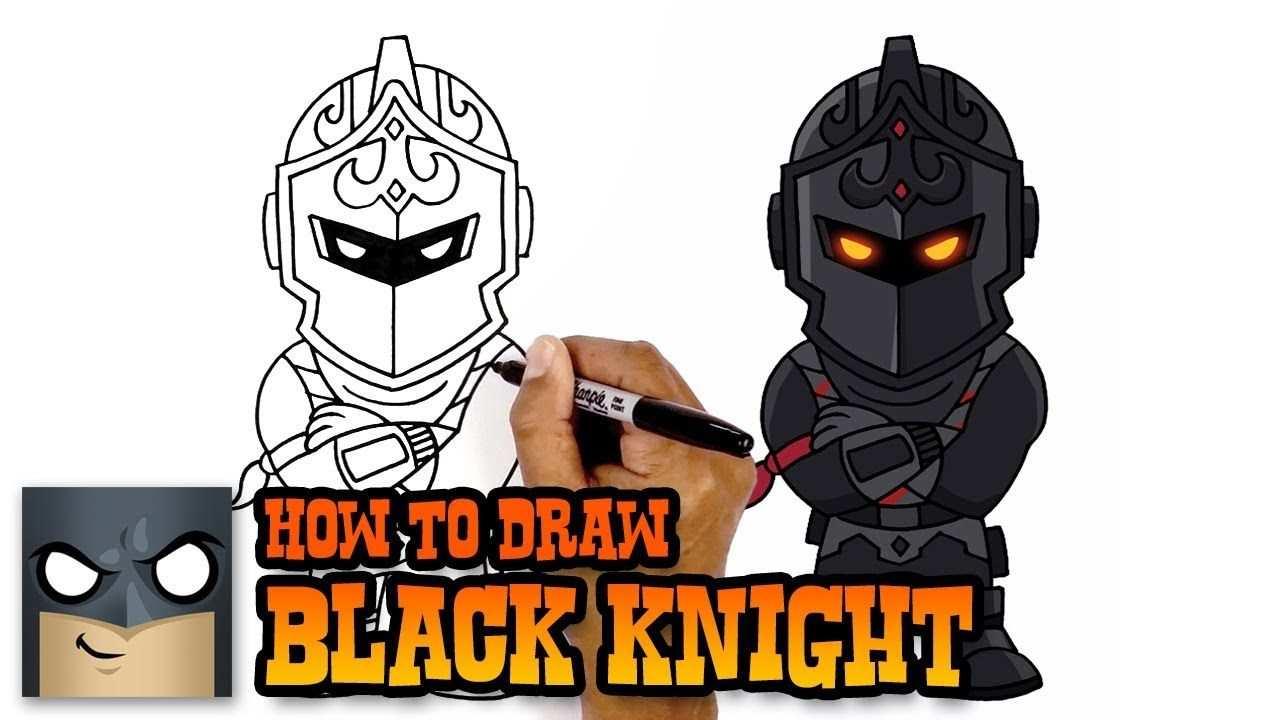How To Draw Black Knight Fortnite Art Tutorial Met