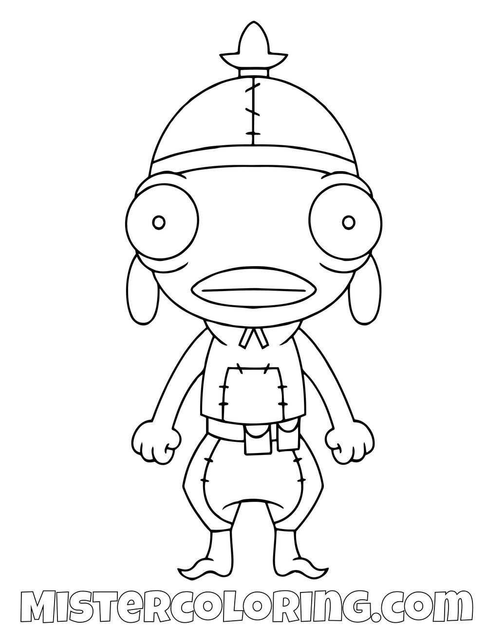 Free Fishstick Chibi Skin Fortnite Coloring Page For Kids