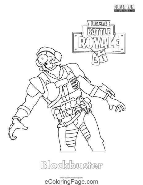 Fortnite Blockbuster Skin Printable Coloring Page Coloring Pages