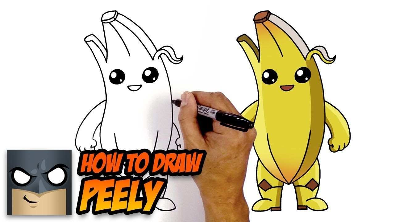 How To Draw Peely Fortnite Step By Step Tutorial With Images
