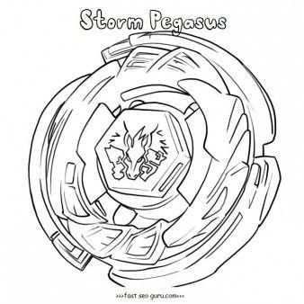 Printable Beyblade Storm Pegasus Coloring Pages From Metal