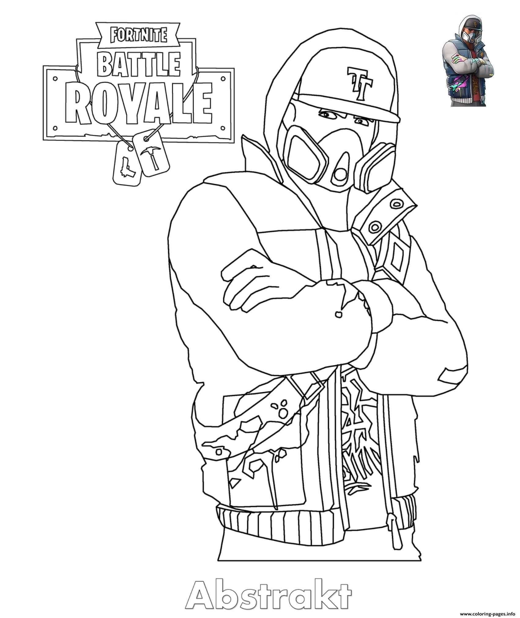 Print Abstrakt Fortnite Skin Coloring Pages With Images