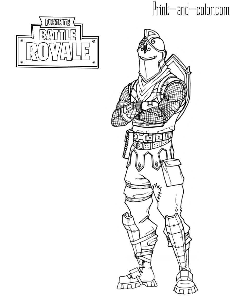 25 Fortnite Coloring Pages Black Knight With Images Coloring