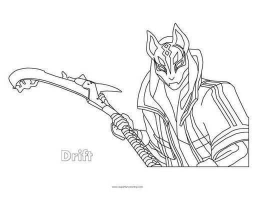 Fortnite Drift Coloring Page Coloring Pages Coloring Sheets