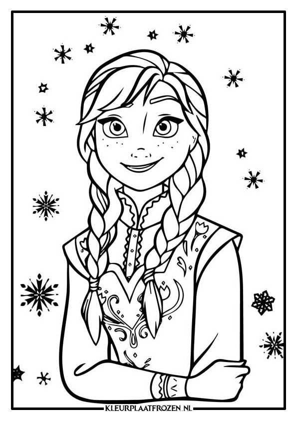 Anna Kleurplaat Uitprinten Op Kleurplaat Frozen Met Afbeeldingen
