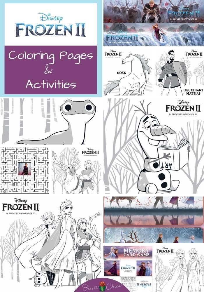 Frozen 2 Coloring Pages And Activities