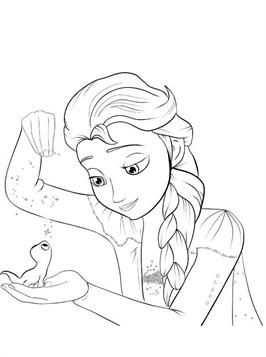 Kleurplaat Frozen 2 Elsa Bruni En 2020 Con Imagenes Fun