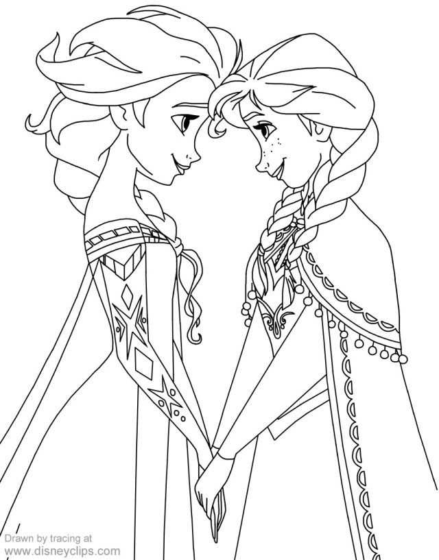 23 Inspired Picture Of Anna And Elsa Coloring Pages Kleurplaten