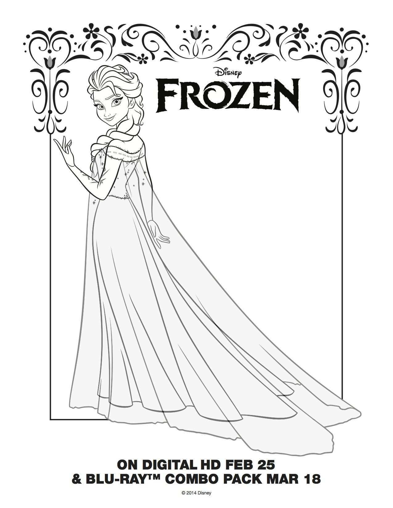 Coloring Pages Elsa Coronation Frozen Http Www Coloringpict