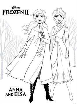 Kleurplaat Frozen 2 Frozen 2 Anna Elsa Em 2020 Com Imagens