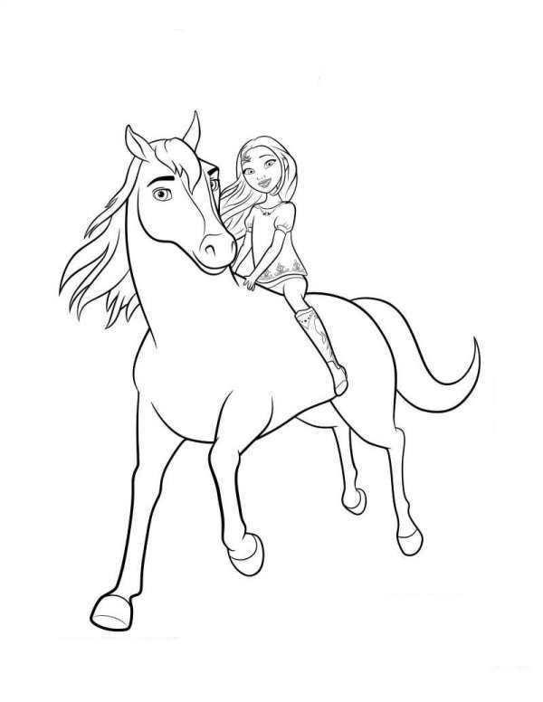 Coloring Page Spirit Riding Free Spirit Lucky 2 Spirit The Horse