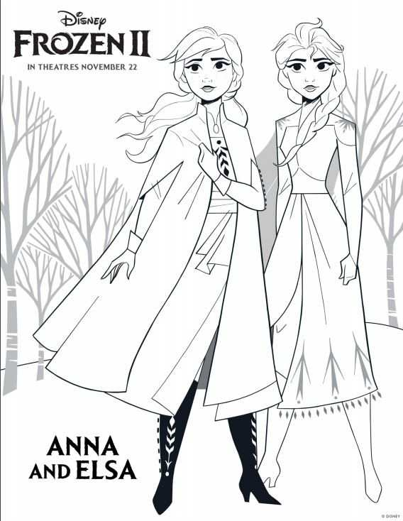Disney S Frozen 2 Coloring Pages With Images Elsa Coloring