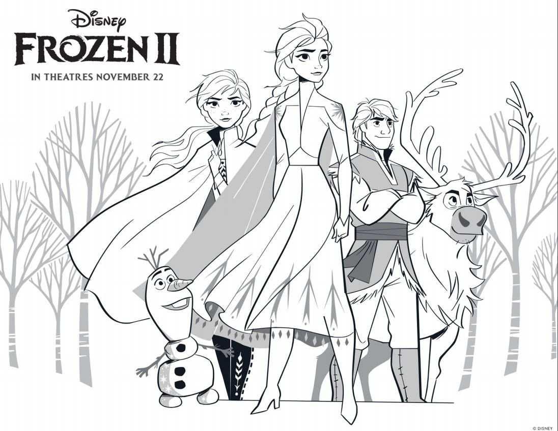 Frozen 2 Coloring Pages Anna And Kristoff V 2020 G Raskraski Elza