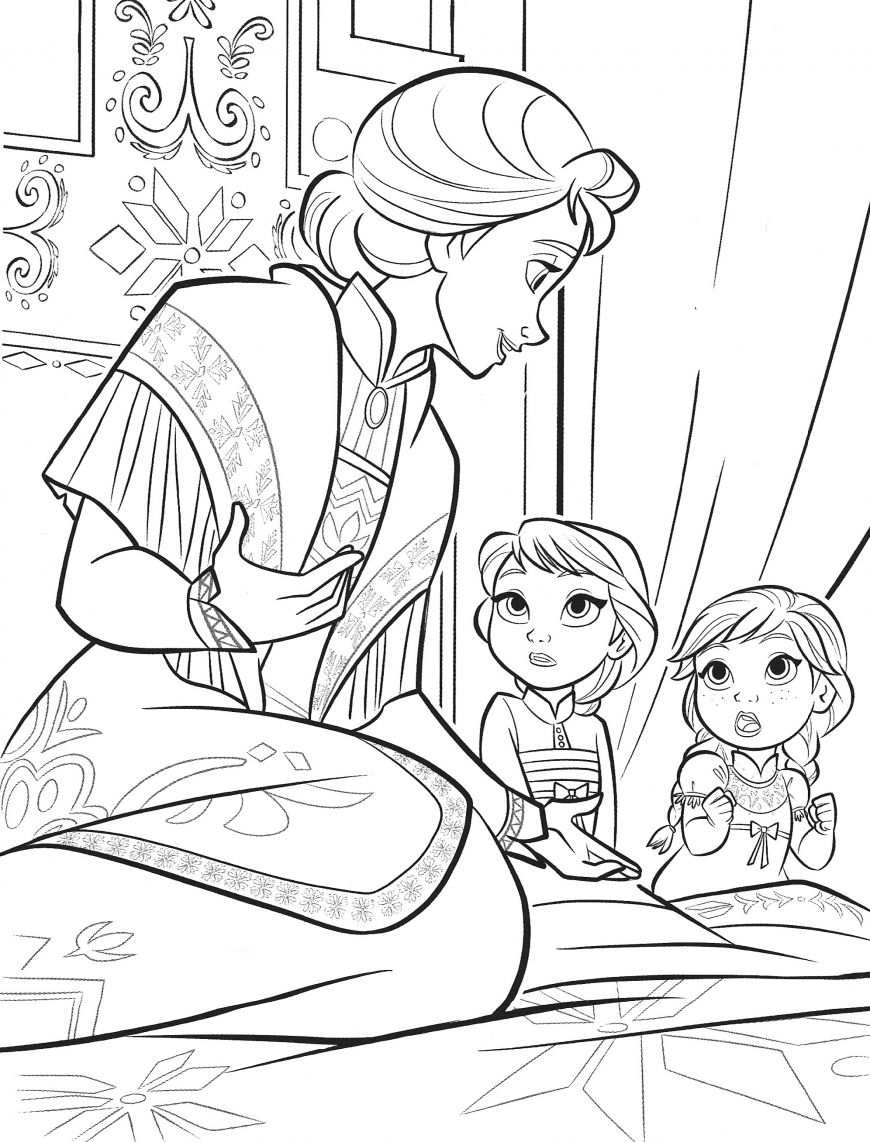 Frozen 2 Elsa And Anna Coloring Pages In 2020 With Images Elsa